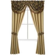Croscill Classics® Tan Chenille Jacobean 2-Pack Rod-Pocket Lined Curtain Panels