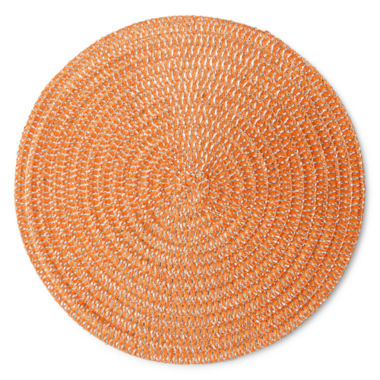 jcpenney.com | Arlee Set of 4 Round Orange Placemats