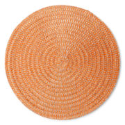 Arlee Set of 4 Round Orange Placemats