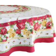 "Homewear Rose Kiss 70"" Round Tablecloth"