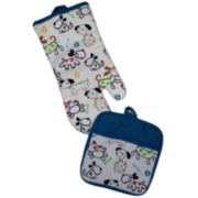 Homewear Dog's World 2-pc. Oven Mitt & Potholder Set