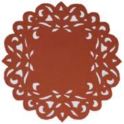 Homewear Southhampton Scroll Set of 4 Rust Placemats