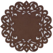 Homewear Southhampton Scroll Set of 4 Chocolate Placemats