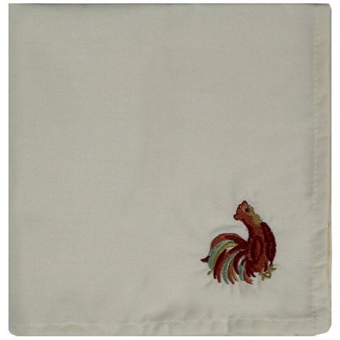 Homewear Rooster Scroll Set of 2 Napkins
