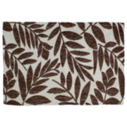 Homewear Tropical Leaf Set of 4 Brown Placemats