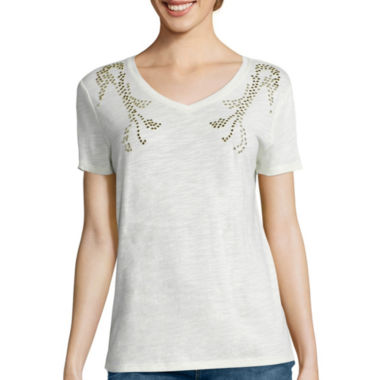 jcpenney.com | i jeans by Buffalo Short-Sleeve Embellished Tee