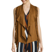 i jeans by Buffalo Faux Suede Fringe Vest