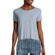 i jeans by Buffalo Short-Sleeve Fringe Tee