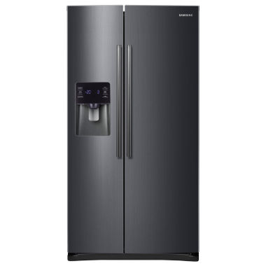 jcpenney.com | Samsung 24.5 cu. ft. Side-by-Side Refrigerator in Black Stainless Steel