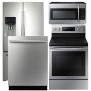 Samsung French Door 4- pc. Kitchen Package- Stainless Steel
