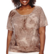 Alyx® Short-Sleeve Tie Dye Jacquard Top - Plus