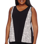Worthington® Printed Colorblock Tank Top - Plus