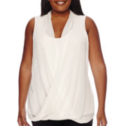 Worthington® Drape-Front Tank Top - Plus