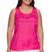 Worthington® Grommet and Stud Tank Top - Plus