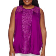 Worthington® Lace Mix Tank Top - Plus
