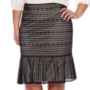 Worthington® Lace Flippy Pencil Skirt - Plus