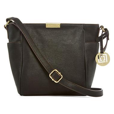 Liz Claiborne Lola Crossbody Bag - Black/Maple