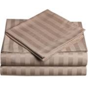 Cathay Home Dobby Stripe Sheet Set
