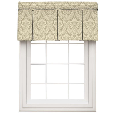 waverly donnington rod pocket box pleated valance jcpenney. Black Bedroom Furniture Sets. Home Design Ideas