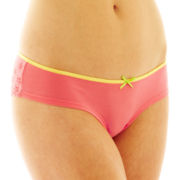 Flirtitude® Lace-Trim Cheeky Panties