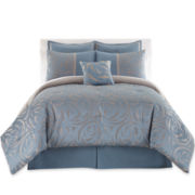 Swirl 7-pc. Jacquard Comforter Set & Accessories