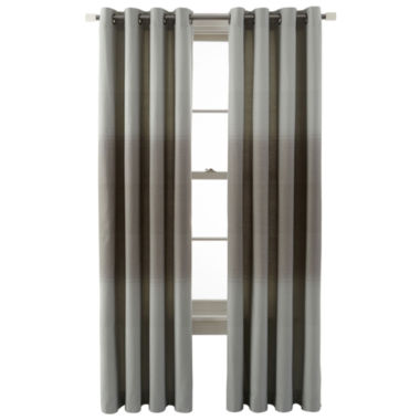 jcpenney.com | JCPenney Home™ Ripple Grommet-Top Ombré Curtain Panel
