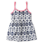 Arizona Split Back Woven Tank Top - Girls Plus