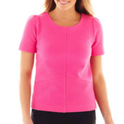 Worthington® Short-Sleeve Textured Top
