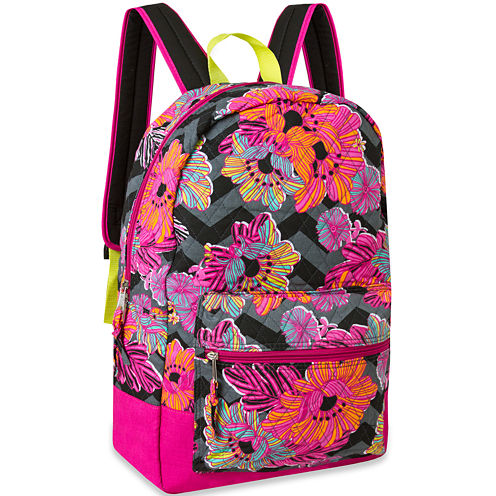 Cotton Quilted Floral Backpack