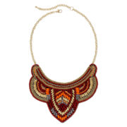 Mixit™ Burgundy and Orange Bead Collar Necklace