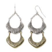 Mixit™ Textured Two-Tone Double-Drop Earrings