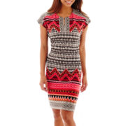 Scarlett Short-Sleeve Sheath Dress - Petite