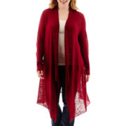 Arizona Long-Sleeve Marled Duster - Plus