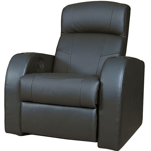 Calli Home Theater Faux-Leather Recliner