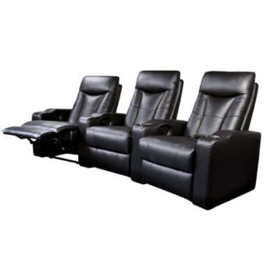 jcpenney.com | Dallas 3-pc. Faux-Leather Home Theater Reclining Sofa Set