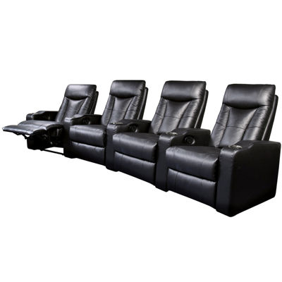 Dallas 4-pc. Home Theater Faux-Leather Reclining Sofa Set