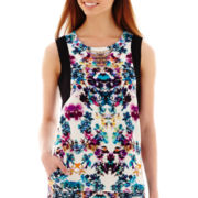 nicole by Nicole Miller® Embellished Print Tank Top