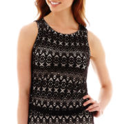 Bisou Bisou® Sleeveless Crochet Top
