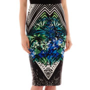 Bisou Bisou® Scuba Print Pencil Skirt