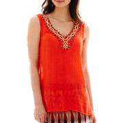 Alyx® Solid Gauze Beaded Tank Top