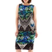 Bisou Bisou® Print Scuba Knit Keyhole Top or Pencil Skirt - Plus