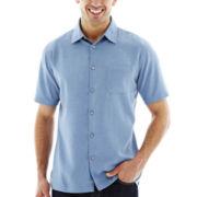 Van Heusen® Short-Sleeve Trans Rayon Woven Shirt
