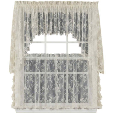 jcpenney.com | Petite Fleur Rod-Pocket Window Tiers