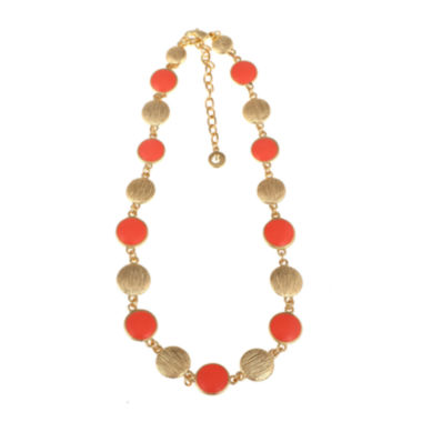 jcpenney.com | Gloria Vanderbilt® Gold-Tone Coral Collar Necklace