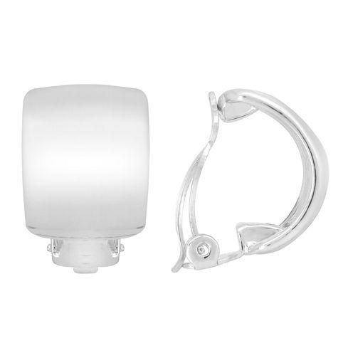 Gloria Vanderbilt® Silver-Tone Wide Hoop Earrings