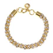 Gloria Vanderbilt® Gold-Tone Crystal Mesh Chain Bracelet