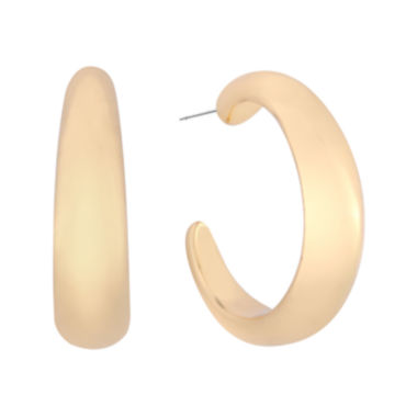 jcpenney.com | Gloria Vanderbilt® Gold-Tone C-Hoop Earrings