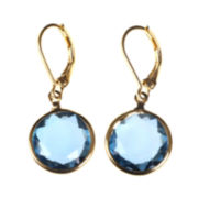 Gloria Vanderbilt® Gold-Tone Indicolite Drop Earrings
