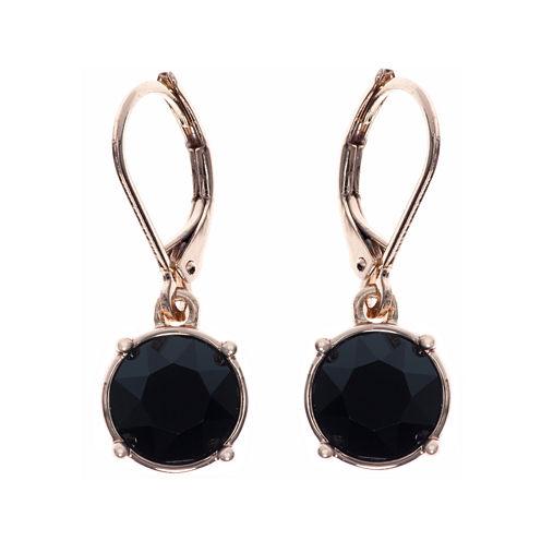 Gloria Vanderbilt® Gold-Tone Jet Black Crystal Drop Earrings