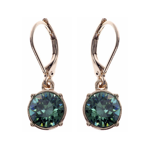 Gloria Vanderbilt® Gold-Tone Erinite Crystal Drop Earrings
